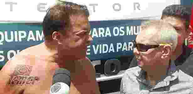 """Deputado Wladimir Costa exibe sua tatuagem em homenagem a Temer  - Divulgação/ """"Diário do Pará"""""""