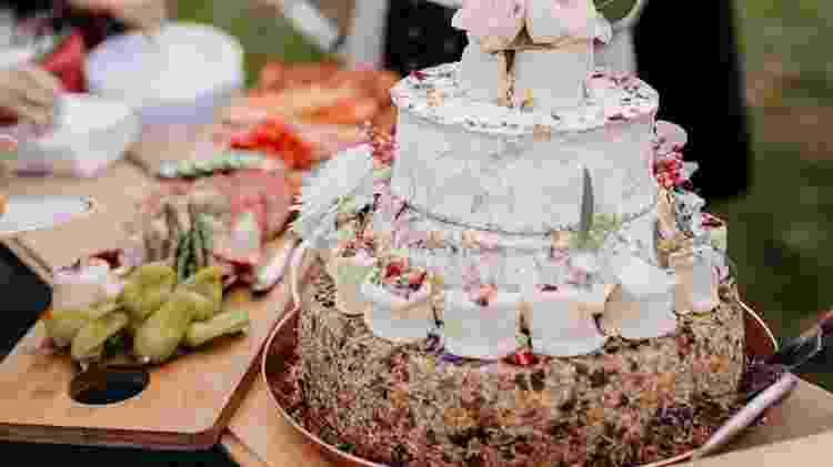 O bolo tinha quatro camadas de queijos diferentes - Instagram/mollyquill - Instagram/mollyquill