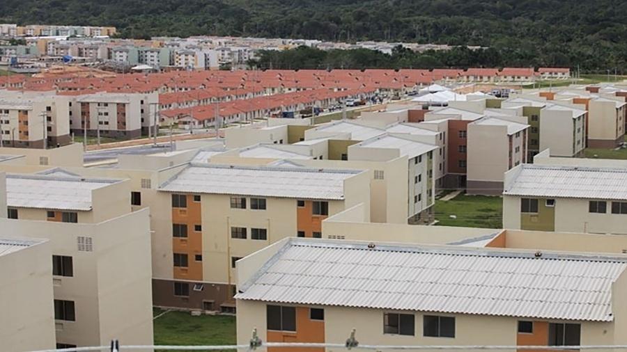 18.fev.2014 - Os conjuntos residenciais Viver Melhor I e II, em Manaus, são as maiores obras do programa Minha Casa, Minha Vida em todo o país.  - Caixa Econômica Federal/Arquivo