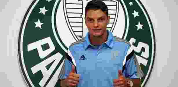 Andrei Girotto durante passagem pelo Palmeiras: jogador madruga no Japão para acompanhar clube  - Fabio Menotti/Divulgação