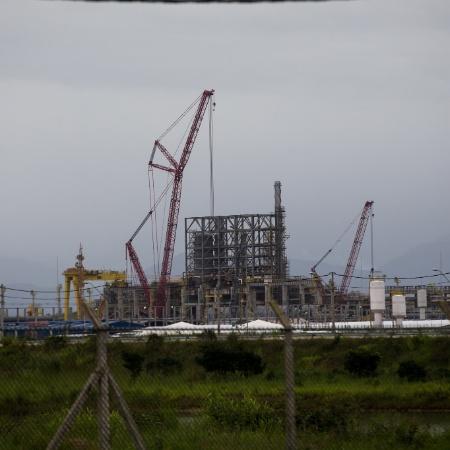 Vista das instalações da Comperj em Itaboraí (RJ)  - Ricardo Borges/Folhapress