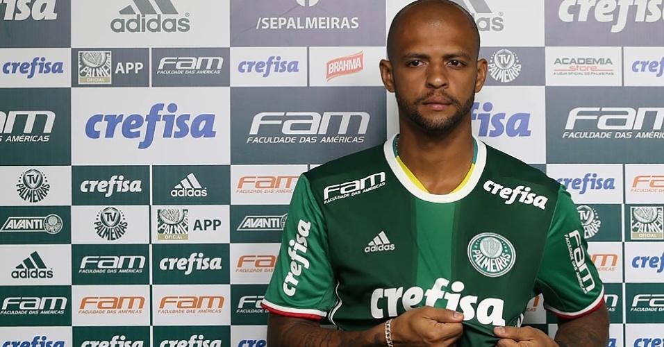 Felipe Melo apresentado no Palmeiras