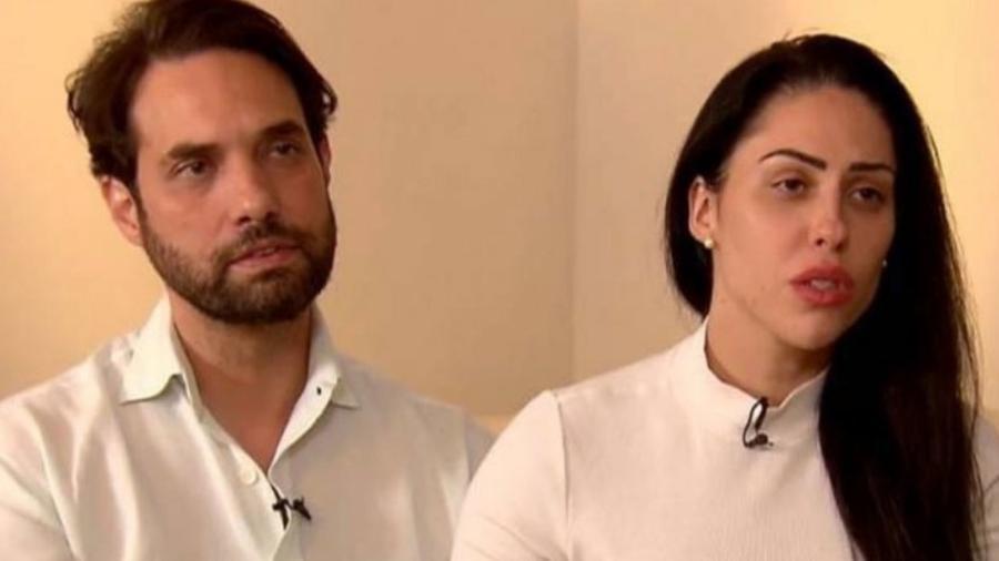 16.abr.2021 - Dr. Jairinho e Monique Medeiros em entrevista à TV Record - Reprodução