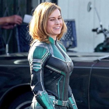 """""""Capitã Marvel"""" já começou a ser filmado, e atriz Brie Larson foi flagrada com uniforme verde - Reprodução"""