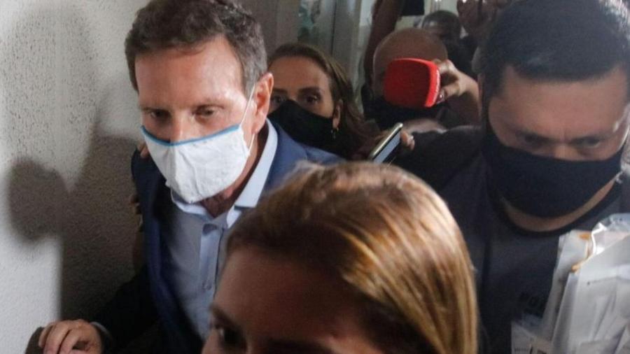 """O ex-prefeito do Rio de Janeiro, Marcelo Crivella, é acusado de chefiar esquema conhecido como """"QG da propina"""" - Tânia Rêgo /Agência Brasil"""
