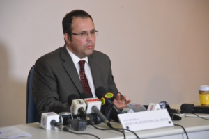 Juiz Josegrei da Silva participa de coletiva sobre operação Hashtag em julho de 2016