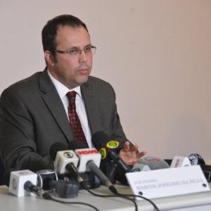 Juiz Josegrei da Silva participa de coletiva sobre operação Hashtag