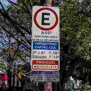 Área de Zona Azul para estacionamento na rua Teodoro Sampaio, em Pinheiros, São Paulo - Felipe Gabriel/Folhapress