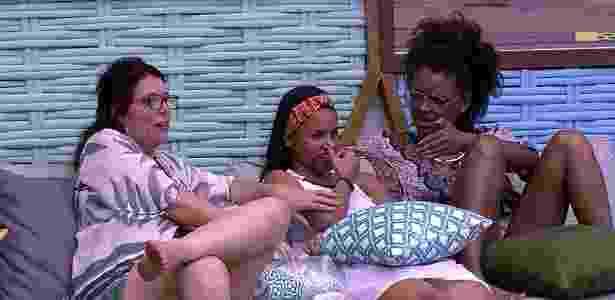 """Mara, Nayara e Gleici no """"BBB18"""" - Reprodução/Globoplay"""