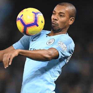 Fernandinho, meio-campista do Manchester City -  Paul ELLIS / AFP