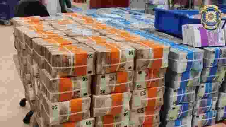 """Os 11 milhões de euros deixados pelo """"Escobar brasileiro"""", segundo a polícia portuguesa - Polícia Judiciária de Portugal/Divulgação - Polícia Judiciária de Portugal/Divulgação"""