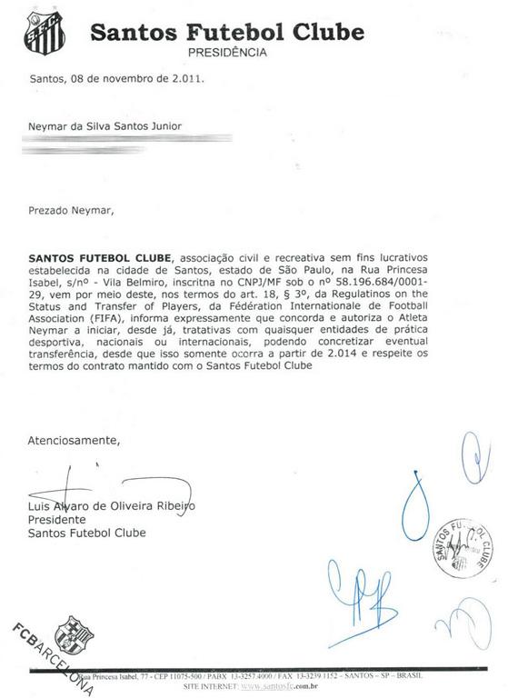 Documento neymar