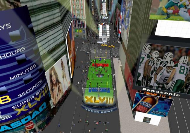 A Broadway vai virar o Super Bowl Boulevard - Ilustração NFL.com