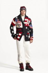 Uniforme dos EUA para a cerimônia de abertura - Divulgação Ralph Lauren