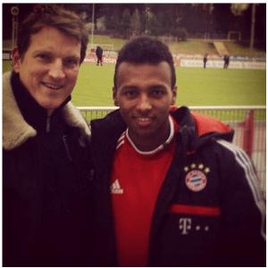 Julian Green com o assistente-técnico dos EUA Andreas Herzog - reprodução Instagram