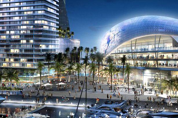 Projeto inclui uma praça de entretenimento - Divulgação Miami's Arquitectonica e 360 Architecture