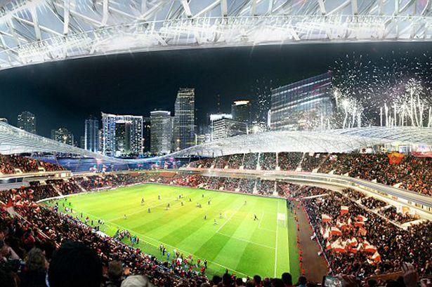 Arena teria capacidade para 25 mil espectadores - Divulgação Miami's Arquitectonica e 360 Architecture