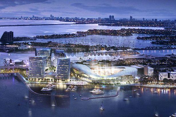 Ilustração do estádio no Porto de Maimi - Divulgação Miami's Arquitectonica e 360 Architecture
