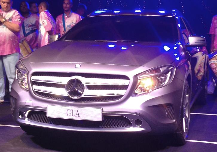 Mercedes-Benz GLA é revelado durante Top Night (Foto: Carina Mazarotto/ Bufalos TV)
