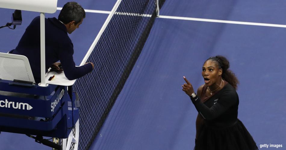 c11e3321cd A decisão feminina do US Open teve um fim muito menos feliz do que poderia  para todo mundo. Para o público