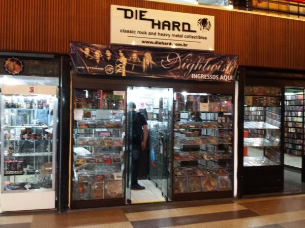 Fachada da loja Die Hard, da Galeria do Rock (FOTO: ARQUIVO PESSOAL/FACEBOOK)