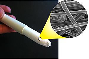 Imagem de divulgação da Universidade de Washington mostra como seria o absorvente interno