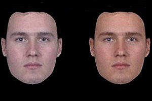 Os rostos eram modificados para parecerem mais saudáveis ou inteligentes (Spisak, B. et al Front. Aging Neuro – 2014)