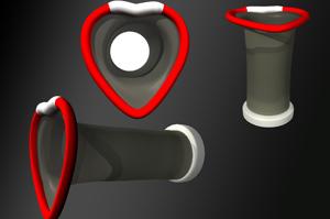 No anel que fica para fora da vagina há um minivibrador na na área próxima ao clitóris (em branco). Crédito: ixullc.com
