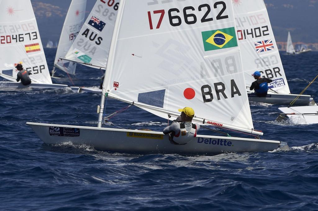 Scheidt, na liderança em Santander (Ivan Zedda/Isaf Sailing World Cup 2014)