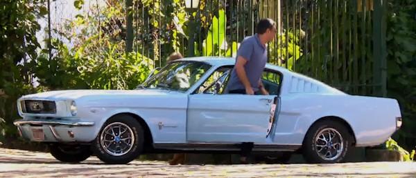 William Bonner e seu Ford Mustang antigo