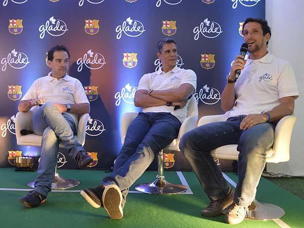 Eu, Márcio Garcia e Belletti, durante mesa-redonda
