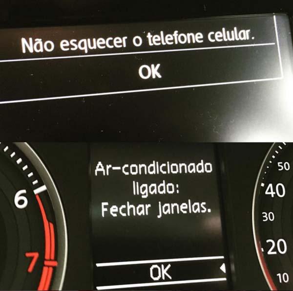 Carro dá conselhos úteis ao motorista