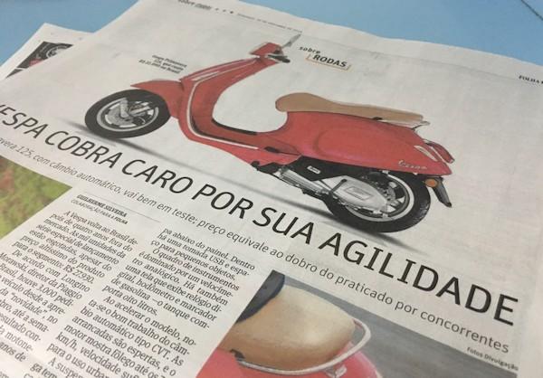 Folha: página inteira sobre a Vespa
