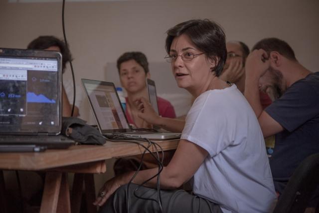 Maru Whately, do Instituto Socioambiental, apresentou propostas melhorar monitoramento cidadão em SP. Foto: Bruno Fernandes
