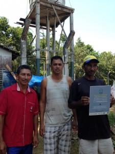 Implantação no microssistema da Comunidade de São Domingos. Foto: InfoAmazonia