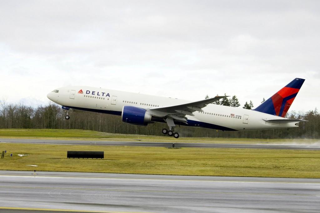 Boeing 777-200LR da Delta (Foto: Divulgação)