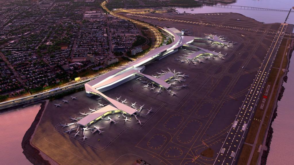 Esboço mostra como deve ficar o aeroporto LaGuardia depois da reforma (Divulgação/Governo de NY)