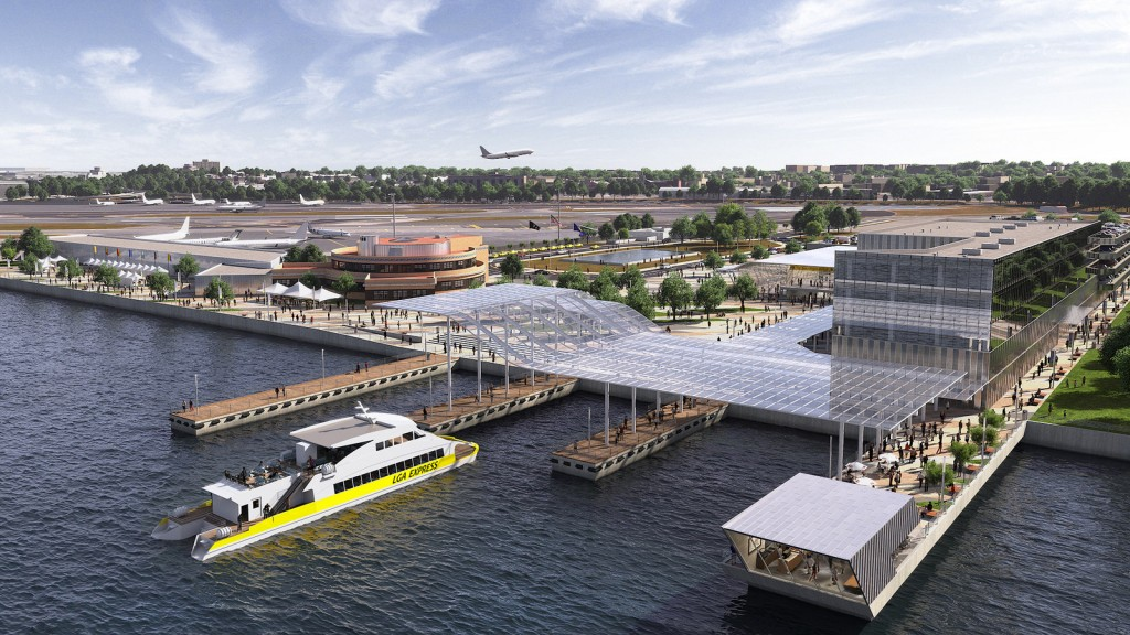 Previsão é que serviço de balsas atenda o aeroporto LaGuardia depois da reforma (Divulgação/Governo de NY)