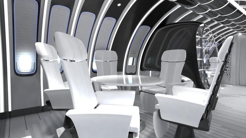 Projeto de assento da Lufthansa Technik (Imagem: Divulgação)
