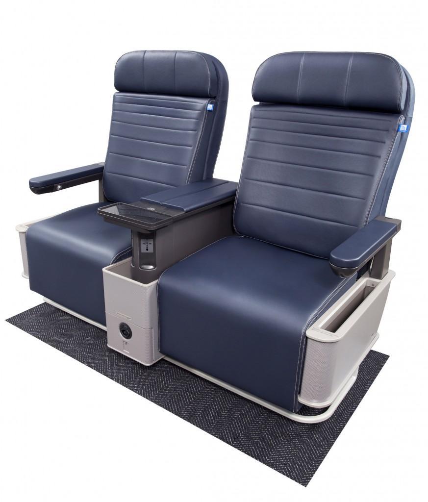 Novos assentos na primeira classe da United (Divulgação)