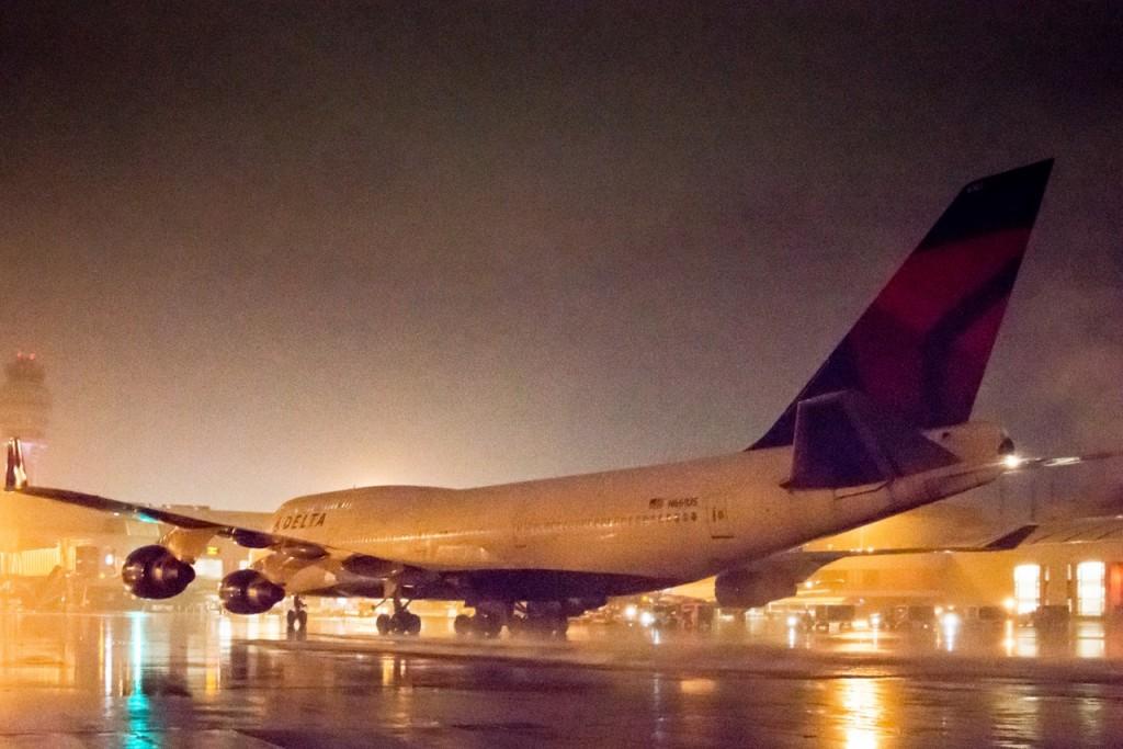 O último voo do primeiro 747-400 (Divulgação)