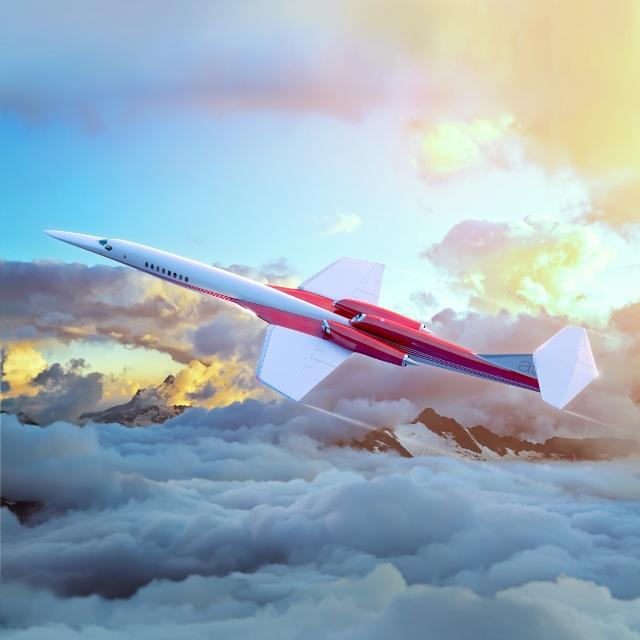 O jato particular supersônico AS2, parceria entre a Aerion e a Airbus (Divulgação)