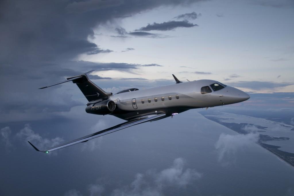 O jato executivo Legacy 500, da Embraer (Divulgação)