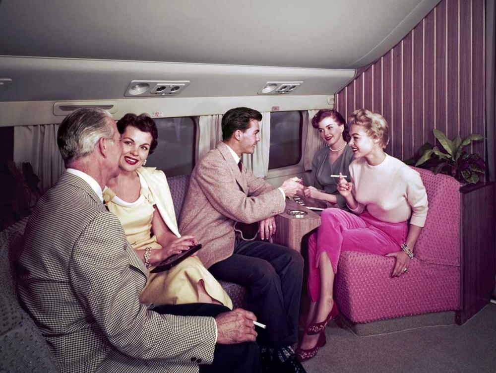 Fumar era permitido pelas companhias aéreas (Foto: Airline Ratings)