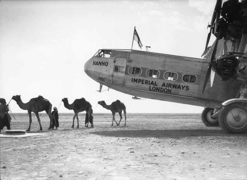 Aeroporto da cidade do Cairo foi um dos mais importantes da época. Créditos: Reprodução/Paleofuture