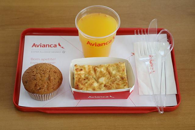 Na ponte aérea, quiche com muffin de sobremesa - Foto: Divulgação/Avianca