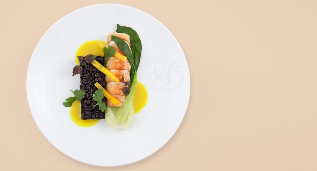 Prato com lagosta criado pelo chef Daniel Boulud para a Air France (Foto: Divulgação)