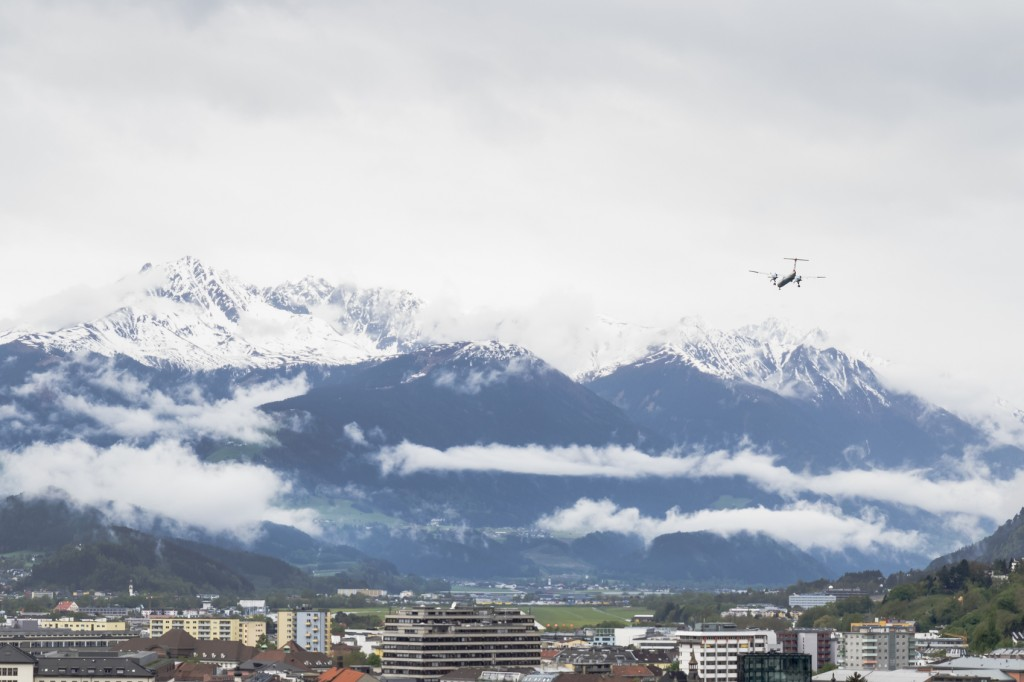 Montanhas nevadas nos Alpes, perto de Innsbruck, na Áustria (Foto: ihorga/Getty Images)