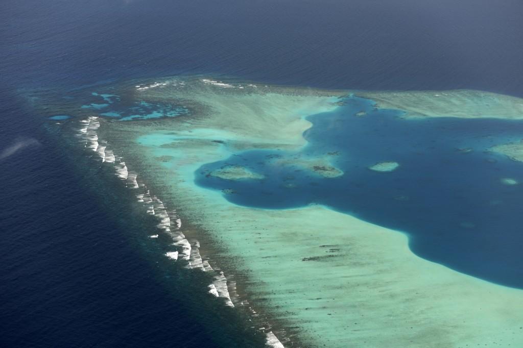 Vista aérea das Maldivas (Foto: Wolfgang Steiner/Getty Images)