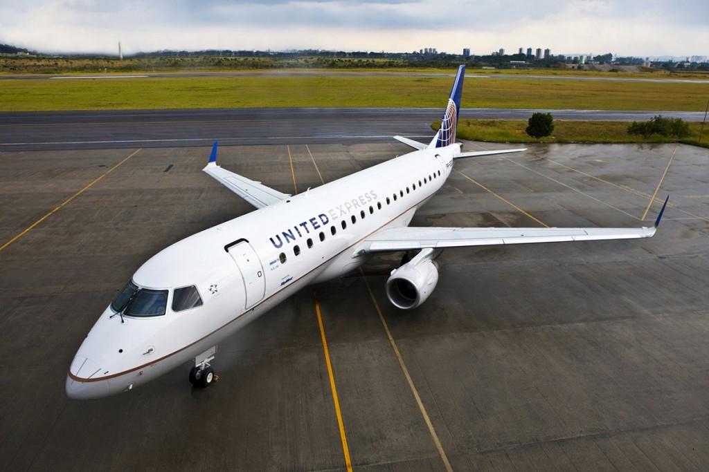 United Airlines anunciou a compra de 24 aviões do modelo Embraer 175 (Foto: Divulgação)